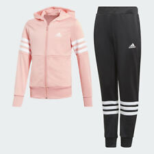 Adidas Girls Tracksuit Top Hoodie Jogging Bottoms Jacket Training Pants Kids