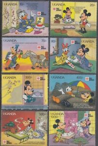 UGANDA 888-95 DONALD and FRIENDS VISIT JAPAN FOR a STAMP EXHIBITION in 1991