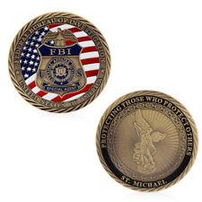 US FBI Saint Michael Commemorative Challenge Coins Collection Token Craft Art