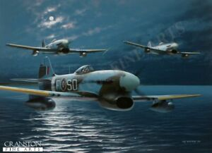 501 Sqn Hawker Tempests  aviation Art Post   Sqn Ldr Joseph Berry,