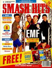 SMASH HITS 1991 DANNII MINOGUE BLUR RICK ASTLEY NKOTB SEAL KYLIE EMF
