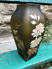 Enamelled glass vase Jugendstil Vase émaillé Art Nouveau Vers 1900 Antique