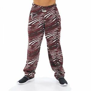 Zubaz NFL Men's Atlanta Falcons Classic Zebra Print Team Logo Pants