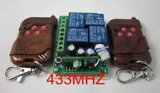 433MHZ DC12V 4 channel Way Remote Control Switch+2 remotes transmitter RF new