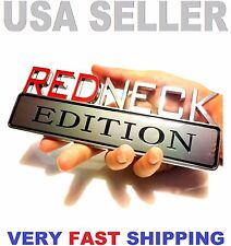 💰 REDNECK EDITION CHEVROLET car TRUCK EMBLEM logo DECAL SIGN CHROME RED NECK tr