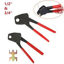 2 Pex Crimper Plumbing Crimping Gonogo Set Angle Gauge Tools Combo 12 And 34