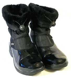Khombu Womens Synthetic & Patent Upper Winter Snow Boots Weather Resistant UK 4