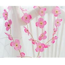1.5M Artificial Flower Garland Plant Foliage Rattan Wedding Home Decor Pink