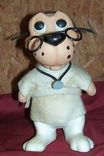 Old RDF 68 Dr. Dog Piggybank Coin Money Bank Vintage Toy Puppy Roy Des of Fla
