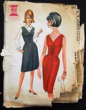Vintage Original McCall's 50's Cocktail Dress/Jumper Pattern No. 6945