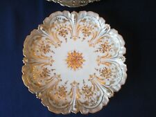 SET 11 CAKE PLATES! Vintage HELENA WOFSOHN -DRESDEN china: elaborate GOLD design