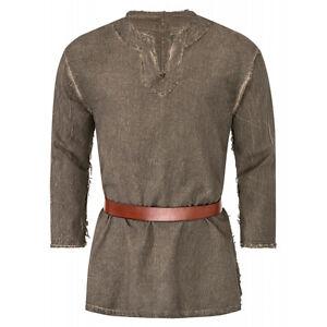 Wolf Hemd Wikinger Mittelalter Gewandung LARP Tunika Herrenhemd