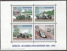 Berlin MiNr. 397 - 400 **  Block 3 50 Jahre AVUS Rennen Mehrfach vom Postgebinde