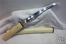 Japanese T10 Clay Tempered Shiro-Take Tanto Japanese Sword Shirasaya