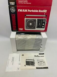 Vintage GE General Electric Portable Radio Stereo AM/FM 7-2857 Brand New