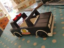 1981 - 84 Vintage Fisher Price Husky Helpers #332 POLICE PATROL SQUAD CAR