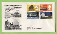 G.B. 1966 Technology Phosphor set on Stuart First Day Cover, Liverpool