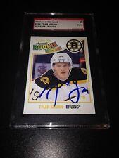 Tyler Seguin Signed 2010-11 OPC Bruins Rookie Card O-Pee-Chee SGC Slab #AU832634