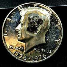 1976 S KENNEDY *PROOF* CLAD HALF DOLLAR COIN OUTSTANDING DOUBLE FACES- ERROR-??