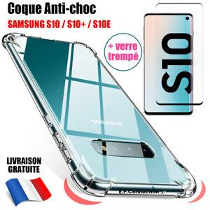 COQUE SAMSUNG S6 S7 S8 S9 S10e S10 PLUS S20 FE + VERRE TREMPE ECRAN PROTECTION