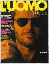 JACK NICHOLSON Leonard Cohen VTG Gianni Versace YSL L'uomo Vogue men's magazine