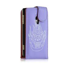 Housse étui coque pour Sony Ericsson Xperia X10 motif tete de mort couleur viole
