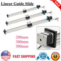CNC Linear Guide Slide Stage Lead Screw Extension Sliding Block 200/300/500mm
