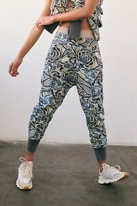 NWT FREE PEOPLE MOVEMENT JUNE BUG PRINTED JOGGERS SIZE SMALL