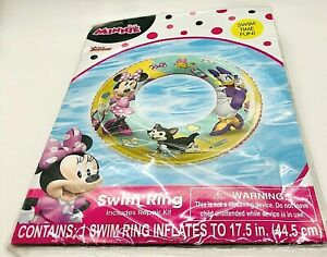Disney Minnie Mouse Swim Ring New In Package Inflates to 17.5 Inches Beach Pool