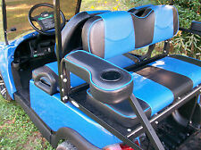Deluxe EZ-GO, Club Car, & Yamaha Rear Seat Arm Rests w/Cup Holder(Black w/ BPpg)