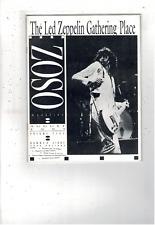 Rare Vintage Led Zeppelin Zoso Magazine August 1991 Vol V No Viii Ms1902