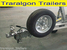 Spare wheel carrier dolly wheel beach launch boat trailer holden ford off road
