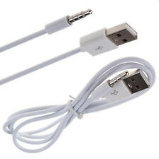 1M White 3.5mm Aux Audio Plug Jack to Usb Male Charging Cable For iPod Mp3 Ca