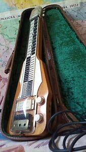 Unique Soviet lap-steel(Hawaiian) 60s guitar+original suitcase, looks&works fine