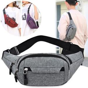 Mens Womens Waist Bum Bag Fanny Pack Travel Belt Pouch Purse Unisex Hiking Bag
