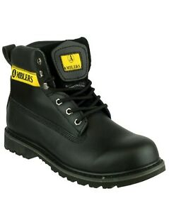 Amblers Banbury black leather rubber sole lace-up non-safety boot