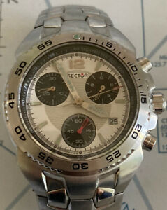 Sector 300 Sapphire Swiss Made 100 Meters Chrono Quartz Stainless Steel