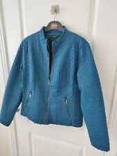 BNWT Ladies Escandelle Coat Jacket Green Teal  XXL 12 14
