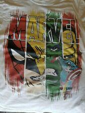 Boys Short Sleeve T-Shirt Wolverine Hulk Spidey Capt America Iron Man size 10/12