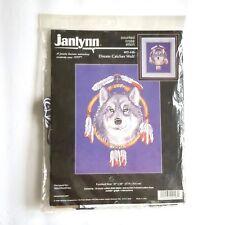 Janlynn Dream Catcher Wolf Cross Stitch Kit 02 448 1998 Aida 14 Ct Counted