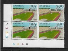 1984 Barbuda - Olympic Games Stadiums - Los Angeles - Corner Block - MNH.