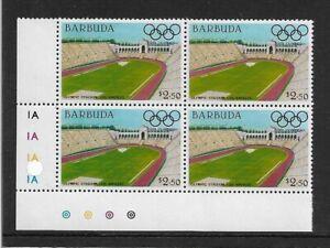 1984 Barbuda - Olympic Games Stadiums - Los Angeles - Corner Block - MNH.
