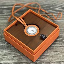 Hermes Orange Pocket Circular Leather Watch