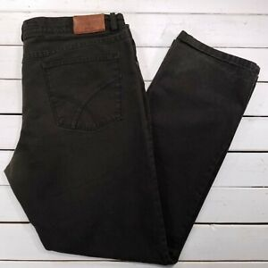 BRAX Feel Good Cooper Jeans Mens 42x33 Brown Mid Rise Straight Leg J00