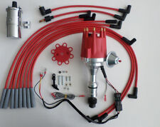 small cap OLDSMOBILE 350,400,403,455 Red HEI Distributor+CHROME Coil+PLUG WIRES
