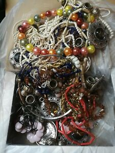 Job Lot Costume Jewellery Necklaces Etc, Wear, Dress Up,Harvest Craft 1.2Kg Kilo