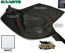 VW Volkswagen BUG, Beelte 1968-1972 Convertible Soft Top White Pinpoint Vinyl