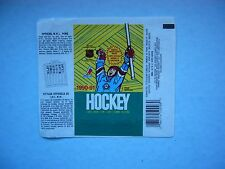 1990/91 O-PEE-CHEE HOCKEY CARD WAX PACK WRAPPER ALEXANDER MOGILNY ROOKIE P OPC