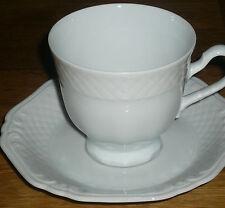 1 Kaffeetasse mit Untertasse   Eschenbach LA REINE WEISS