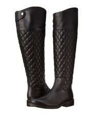 Vince Camuto Women's Faya Black Quilted Leather Riding Knee High Boots 5.5 M